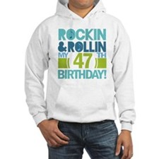 47th Birthday Rock and Roll Hoodie
