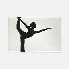 Bikram Yoga Bow Pose Rectangle Magnet