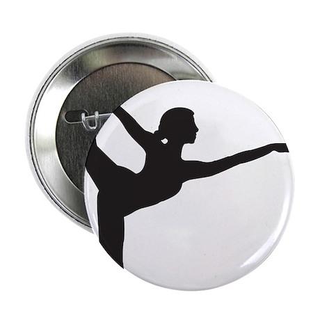"""Bikram Yoga Bow Pose 2.25"""" Button"""
