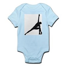 Bikram Yoga Triangle Pose Infant Bodysuit