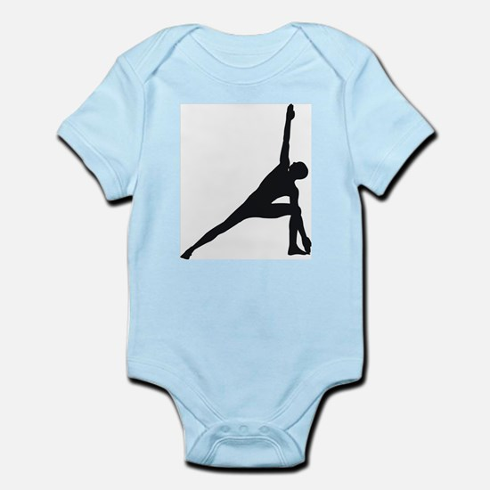 Bikram Yoga Triangle Pose Infant Bodysuit