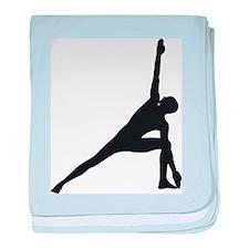 Bikram Yoga Triangle Pose baby blanket