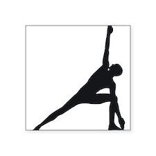"""Bikram Yoga Triangle Pose Square Sticker 3"""" x 3"""""""