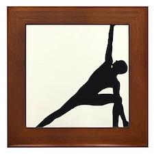 Bikram Yoga Triangle Pose Framed Tile