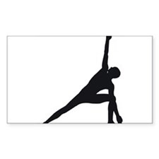 Bikram Yoga Triangle Pose Decal