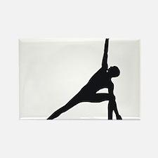 Bikram Yoga Triangle Pose Rectangle Magnet