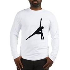 Bikram Yoga Triangle Pose Long Sleeve T-Shirt
