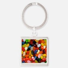 Jelly Beans! Square Keychain