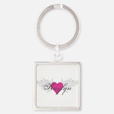 My Sweet Angel Kaylyn Square Keychain