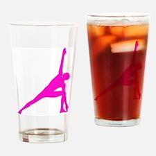 Bikram Yoga Triangle Pose in Pink Drinking Glass