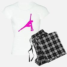 Bikram Yoga Triangle Pose in Pink Pajamas