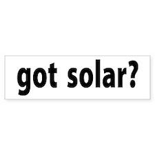 got solar? Bumper Bumper Sticker
