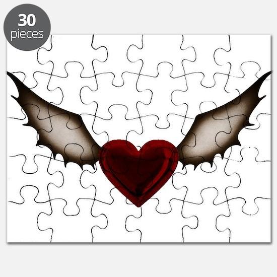 Dark Wing Heart Puzzle