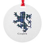Lion - Cooper Round Ornament