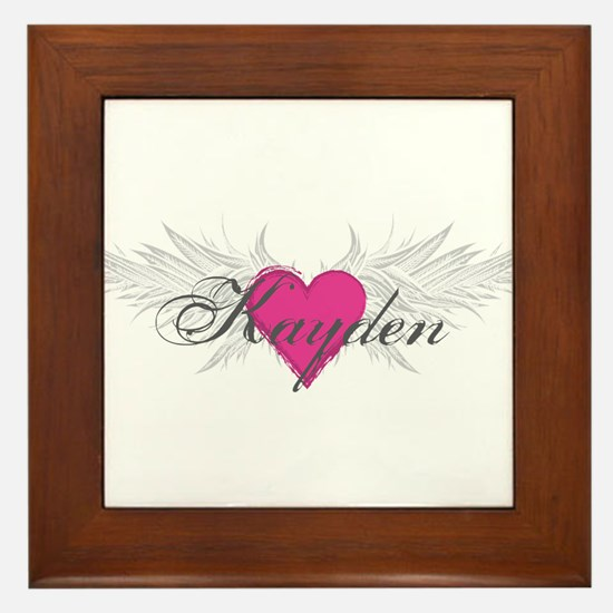 My Sweet Angel Kayden Framed Tile