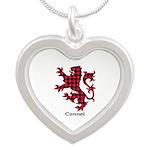 Lion - Connel Silver Heart Necklace
