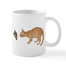 Orange Kitten Butterfly Mug
