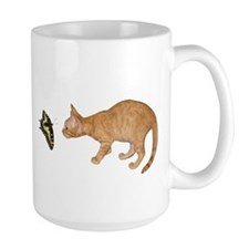Orange Kitten Butterfly Mug