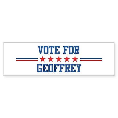 Vote for GEOFFREY Bumper Sticker