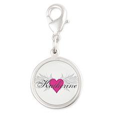 My Sweet Angel Katherine Silver Round Charm