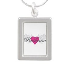 My Sweet Angel Katherine Silver Portrait Necklace