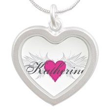 My Sweet Angel Katherine Silver Heart Necklace