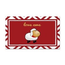 Love Ewe Rectangle Car Magnet