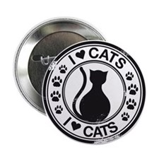 "i heart cats 2.25"" Button"