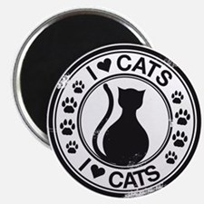 "i heart cats 2.25"" Magnet (10 pack)"