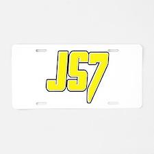js7js7 Aluminum License Plate
