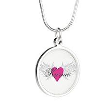 My Sweet Angel Karma Silver Round Necklace