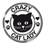 Crazy cat lady Round Car Magnets