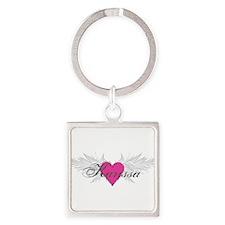 My Sweet Angel Karissa Square Keychain