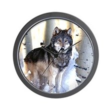 Cute Wolf pack Wall Clock