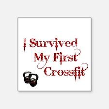 "Crossfit Survivor Square Sticker 3"" x 3"""