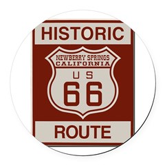 Newberry Springs Route 66 Round Car Magnet