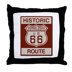 Newberry Springs Route 66 Throw Pillow
