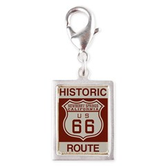 Newberry Springs Route 66 Silver Portrait Charm