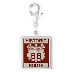 Newberry Springs Route 66 Silver Square Charm
