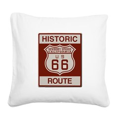 Newberry Springs Route 66 Square Canvas Pillow