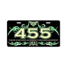 455 Engine Aluminum License Plate