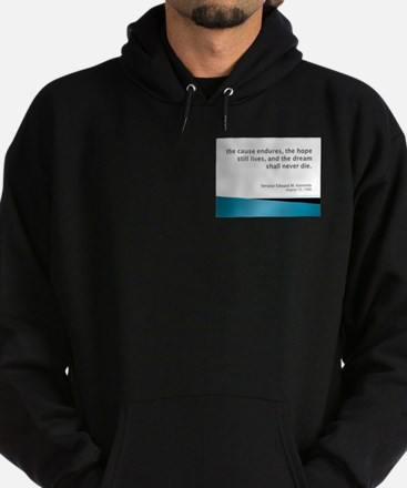 Hoodie (dark) With Kennedy Quote
