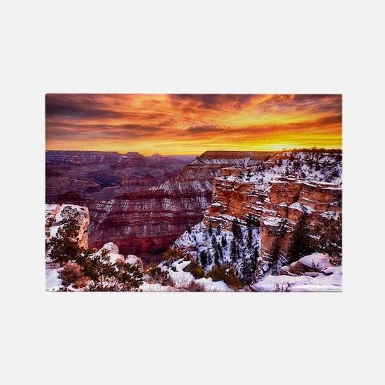 Grand Canyon Landscape at Sunrise Rectangle Magnet