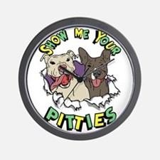 Show Me your Pitties Wall Clock