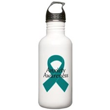 Anxiety Awareness Ribbon Water Bottle