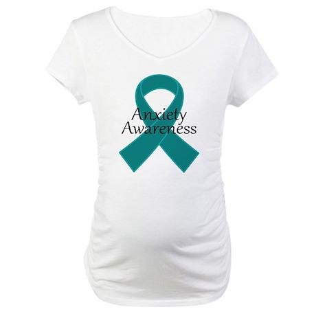 Anxiety Awareness Ribbon Maternity T-Shirt