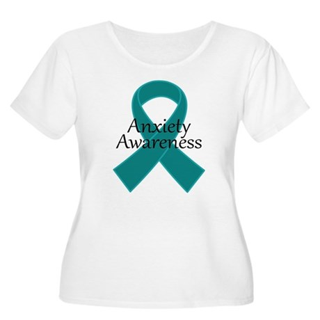 Anxiety Awareness Ribbon Women's Plus Size Scoop N