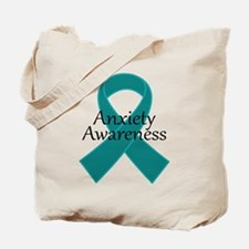 Anxiety Awareness Ribbon Tote Bag