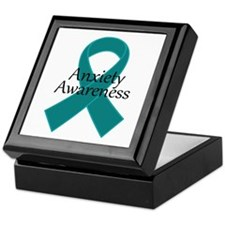Anxiety Awareness Ribbon Keepsake Box