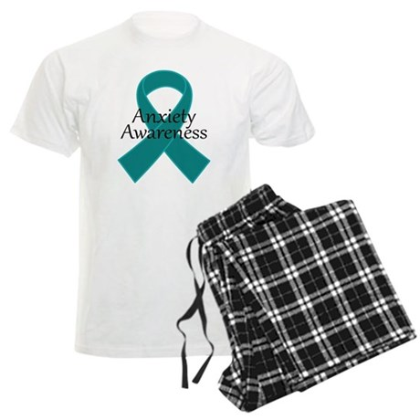 Anxiety Awareness Ribbon Men's Light Pajamas
